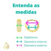 BRINCO DE ARGOLA CRAVEJADA - 3 PARES (TRIO) (M-C)