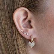BRINCO EAR CUFF 3 ZIRCONIAS CRISTAL